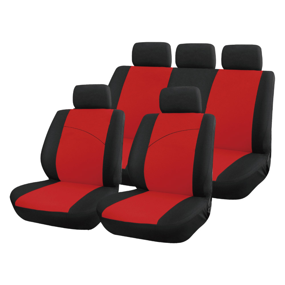 9pc Red Seat Cover Set