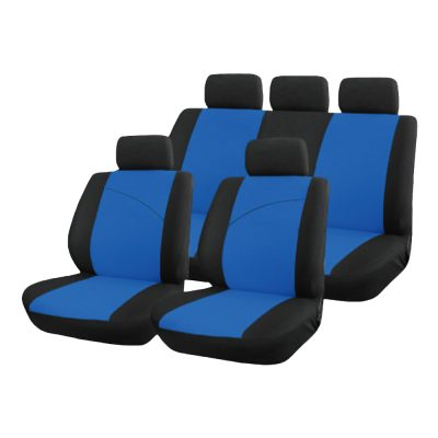 Auto Choice Direct - Seat Covers - 9pc Blue Seat Cover Set - Car Accessories UK