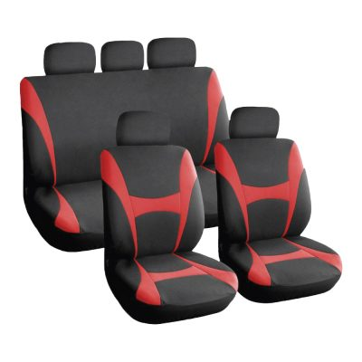 Auto Choice Direct - Seat Covers - 9pc Red Seat Cover Set - Car Accessories UK