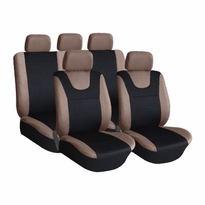 Auto Choice Direct - Seat Covers - 9Pc Grey Seat Cover Set - Car Accessories UK