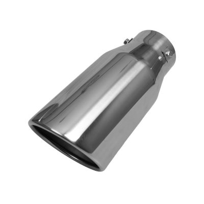 Auto Choice Direct - Exhaust Tips - Long Rolled Slash Cut Exhaust Tip - Car Accessories UK