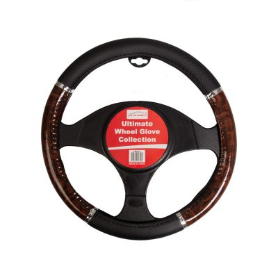 Auto Choice Direct - Steering Wheel Covers - Wood Effect Steering Wheel Cover - Car Accessories UK