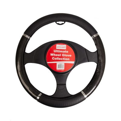 Auto Choice Direct - Steering Wheel Covers - Chrome Effect Steering Wheel Cover - Car Accessories UK