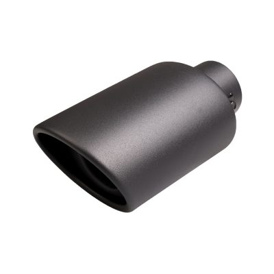 Auto Choice Direct - Exhaust Tips - Black Circular Rolled Exhaust Tip - Car Accessories UK
