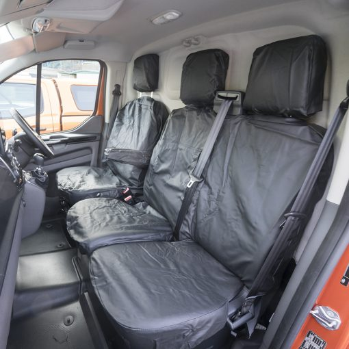 Auto Choice Direct - Premium Series - Ford Transit Custom Leather Look Seat Covers - Car Accessories UK