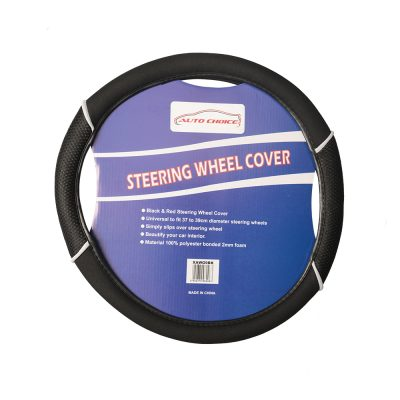 Auto Choice Direct - Steering Wheel Covers - Black Steering Wheel Cover - Car Accessories UK
