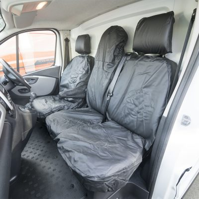Auto Choice Direct - Seat Covers - Premium Vivaro/Trafic/Talento/NV300 Leather Look Seat Covers - Car Accessories UK