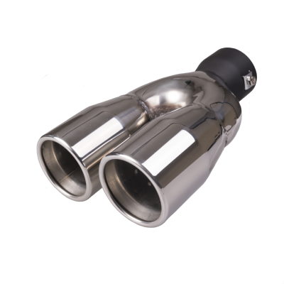 Auto Choice Direct - Exhaust Tips - Twin Round Exhaust Tip - Car Accessories UK