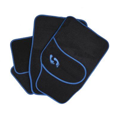 Auto Choice Direct - Mats - Black Carpet Mat Set with Blue Detailing - Car Accessories UK