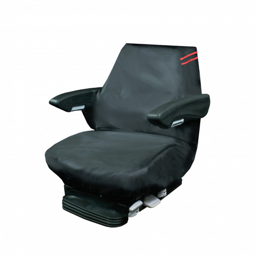 Auto Choice Direct - Premium Series - Large Tractor Seat Cover - Red Detailing - Car Accessories UK