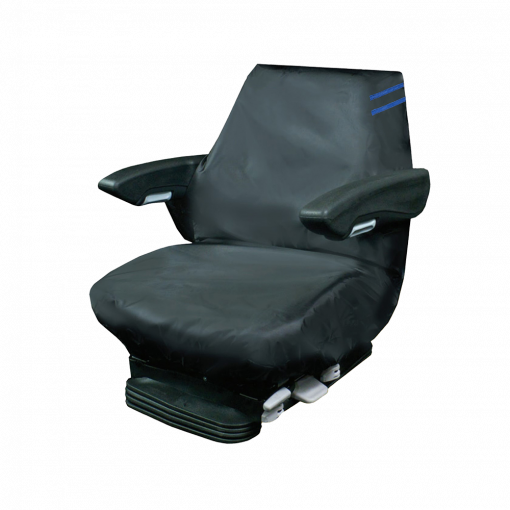 Auto Choice Direct - Premium Series - Large Tractor Seat Cover - Blue Detailing - Car Accessories UK