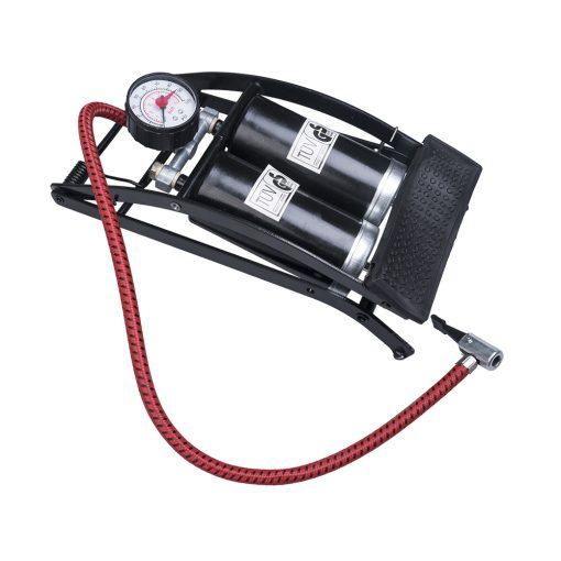 Auto Choice Direct - Foot Pumps - Double Barrel Foot Pump - Car Accessories UK