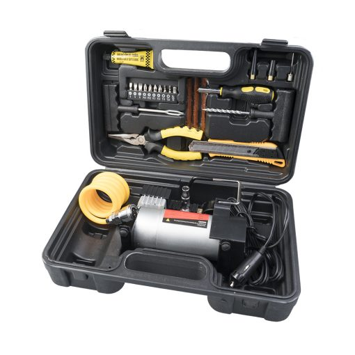 Auto Choice Direct - Compressors - 12v Air Compressor Tyre Repair Kit - Car Accessories UK