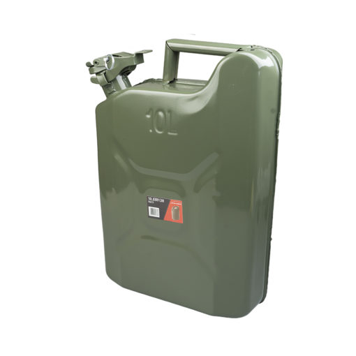 Auto Choice Direct - Fuel Accessories - 10L Metal Jerry Can - Car Accessories UK