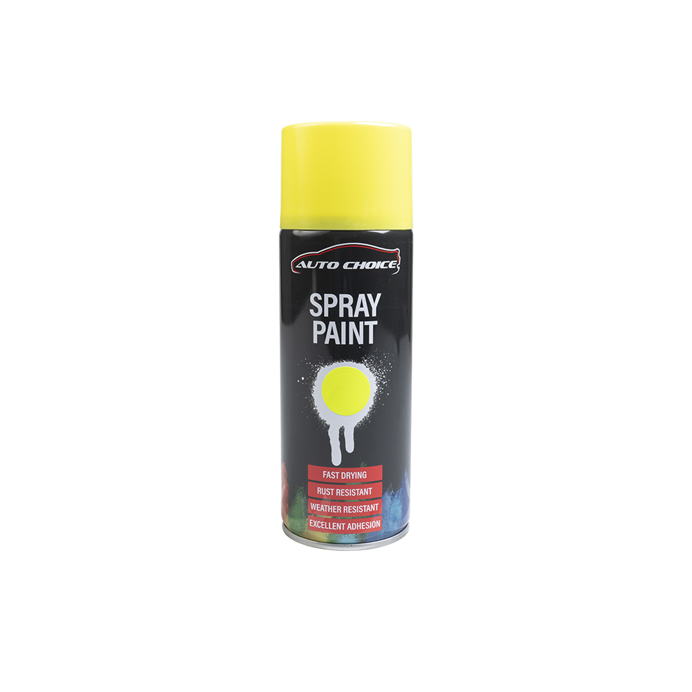 Auto Choice Direct - Fluorescent Yellow Spray Paint - Car Accessories UK