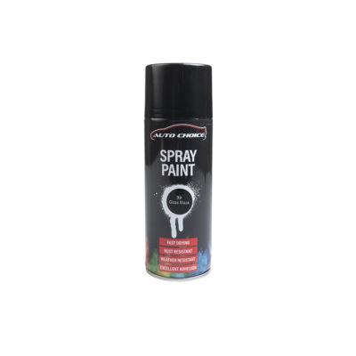 Auto Choice Direct - Gloss Black Spray Paint - Car Accessories UK