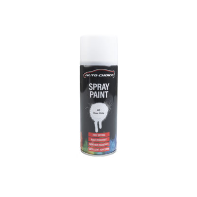 Auto Choice Direct - Gloss White Spray Paint - Car Accessories UK