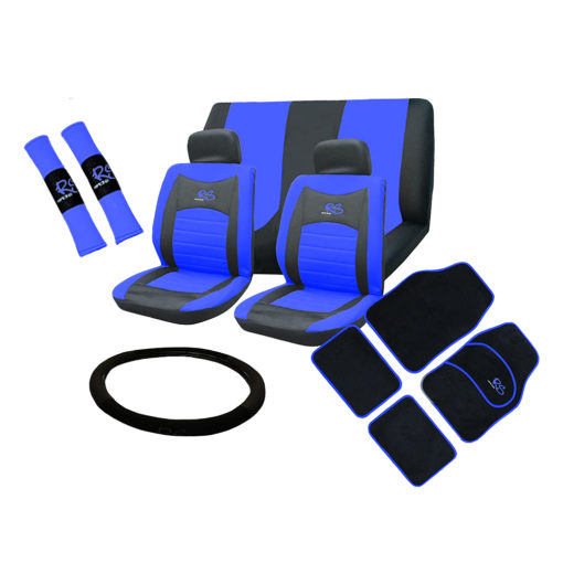 Auto Choice Direct - 15pc Blue RS Seat Cover Set - Car Accessories UK