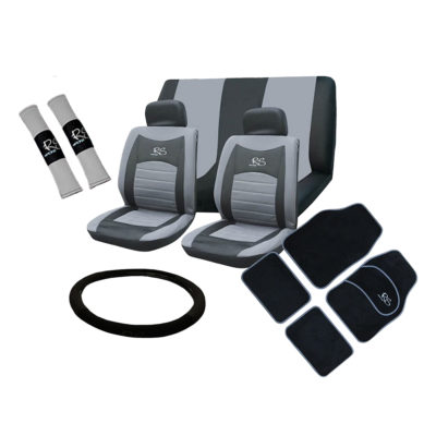 Auto Choice Direct - 15pc Grey RS Seat Cover Set - Car Accessories UK
