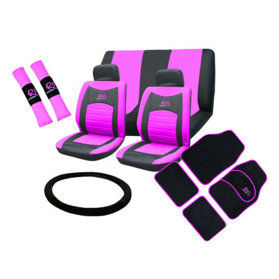 Auto Choice Direct - 15pc Pink RS Seat Cover Set - Car Accessories UK