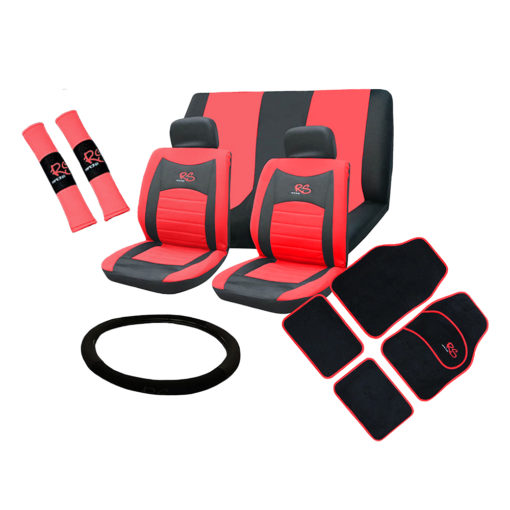 Auto Choice Direct - 15pc Red RS Seat Cover Set - Car Accessories UK