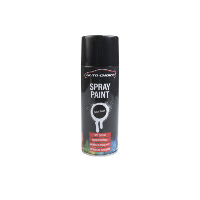 Auto Choice Direct - Satin Black Spray Paint - Car Accessories UK