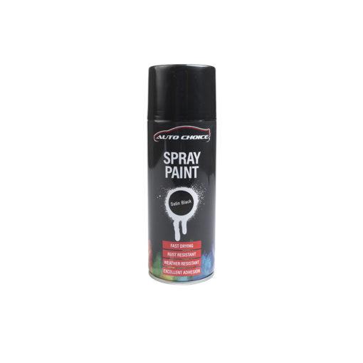 Auto Choice Direct - Satin Black Spray Paint - Car Accessories UK