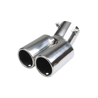 Auto Choice Direct - Exhaust Tips - Twin Round Angled Exhaust Tip - Car Accessories UK
