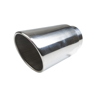 Auto Choice Direct - Exhaust Tips - Circular Rolled Slash Cut Exhaust Tip - Car Accessories UK