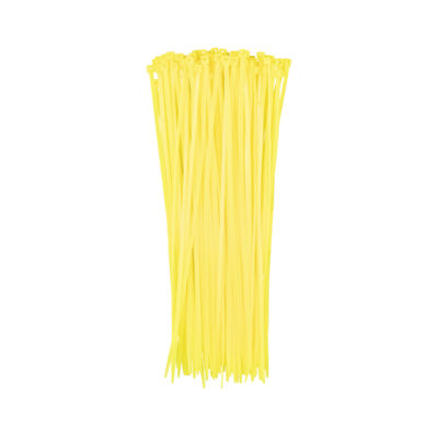 Auto Choice Direct - Cable 200mm x 2.5mm Yellow Cable Ties (Pack of 100) - Car Accessories UK